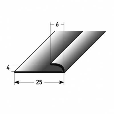 """Mini-Klemmprofil / Einfassprofil """"Westerose"""" für Designböden, 4 mm Einfasshöhe, Aluminium eloxiert"""