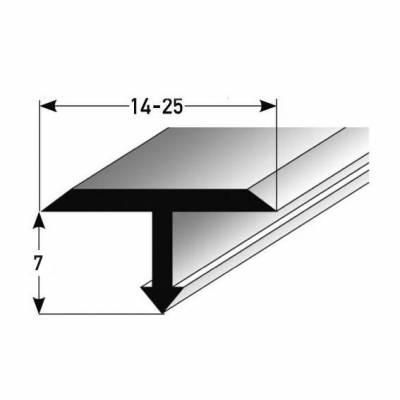 "T-Profil ""Tijola"" für Übergänge, Montageprofil / Bauprofil, aus Aluminium oder Edelstahl"