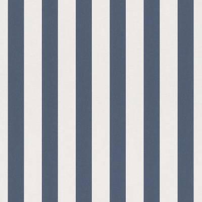 Rasch Bambino XVIII   246049   Papiertapete Streifen   0.53 m x 10.05 m   Blau