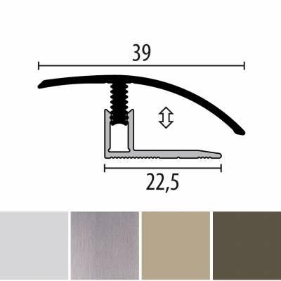 Küberit 556 Mono-Clip | Übergangsprofil | Breite:39 mm | Laminatausgleich | Höhe:7-12 mm
