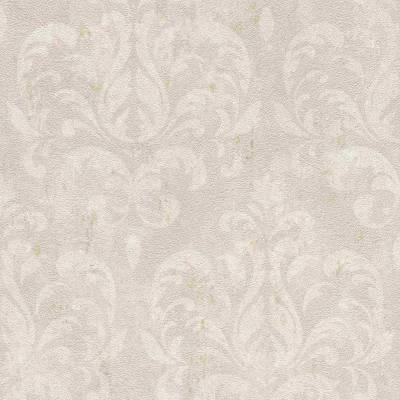 Rasch Selection Vinyl/Vlies | 608519 | Vliestapete Blumen | 0.53 m x 10.05 m | Silbermetallic