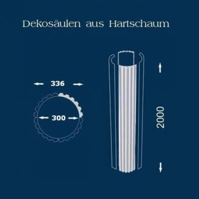 """Säulenschaft / Säulenprofil """"Wiesemann SP18 kanneliert"""" - unbeschichtet"""