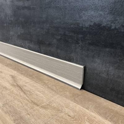 """Fußleiste / Sockelleisten """"Rimini"""" aus PVC Hartschaum mit transparenter Weichlippe"""