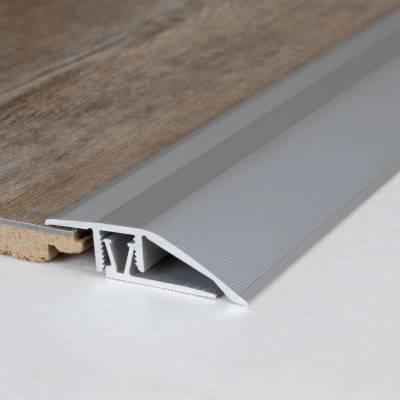 """Klick-Ausgleichsprofil / Anpassungsprofil """"Toronto"""" Höhe 7 - 10 mm, 41 mm breit, Aluminium eloxiert"""