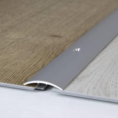 """Stegübergangsprofil """"Brüssel"""" / Übergangsschiene, 28 mm, Typ: 06 (Aluminium eloxiert)"""