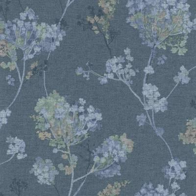 Rasch Selection | 449280 | Vliestapete Blumen | 0.53 m x 10.05 m | Grau