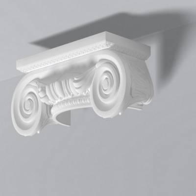 """Halb-Säulenkapitell """"Sylt 3"""" (NMC DOMOSTYL® - DHCI3) Neu"""