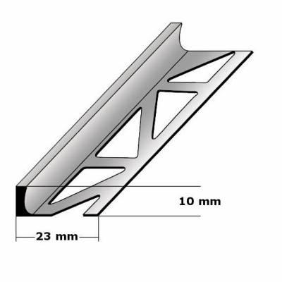 """Fliesenabschlussprofil """"Beldert"""" Trennschiene Fliesenabschluss, H 2 - 30 mm, B 23 mm, Edelstahl"""