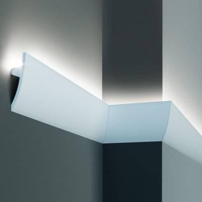 Stuckleiste | 75 mm x 36 mm | Polyurethan | KF502 | Lichtleiste | Zierleiste