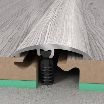 Übergangsprofil 30 x 5,4 mm   Aluminiumprofil 3 in 1   Übergangs- Ausgleichs- und Abschlussprofil