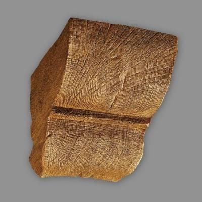 Wiesemann Konsole | für PU-Balken | 12 x 12 cm | hochfestes Polyurethan | Hellbraun | realistisch