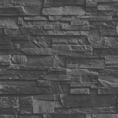 Rasch Factory III | 475036 | Vliestapete Muster & Motive | 0.53 m x 10.05 m | Grau