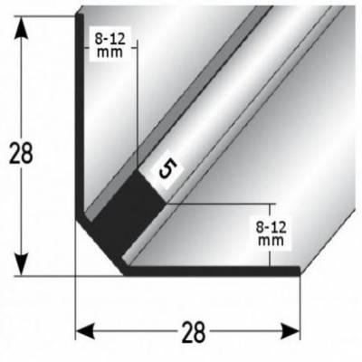 """Treppeninnenecke """"Ardmore"""", Einfassung: 8 - 12 mm (Edelstahl matt, gebohrt)"""