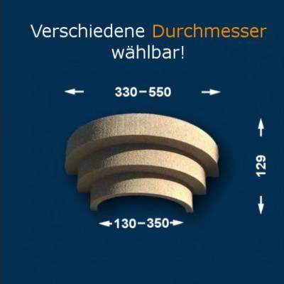 """Säulenkapitell """"Wiesemann SK3-b"""", Durchmesser 13 -35 mm, wetterfest Beschichtet-13 mm (Default)"""