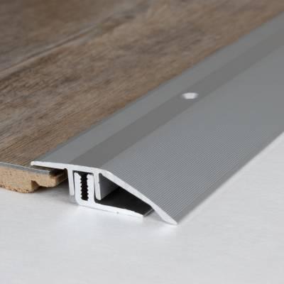"Ausgleichsprofil / Anpassungsprofil Laminat, ""Vancouver"", H 7 - 15 mm, B 44 mm, Aluminium eloxiert"