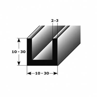 """U-Profil """"Belmonte"""" als Montageprofil / Bauprofil, aus Aluminium"""