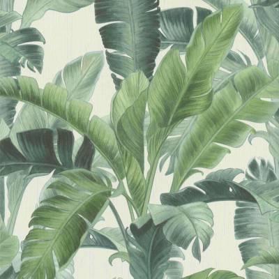 Rasch BARBARA Home Collection II | 536683 | Vliestapete Blumenoptik | 0.53 m x 10.05 m | Grün