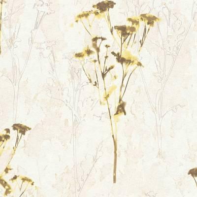 A.S. Creation Free Nature | 343981 | Vliestapete Blumen | 0.53 m x 10.05 m | Beige