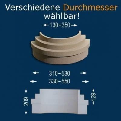 """Säulenbasis """"Wiesemann SB3-b"""", Durchmesser 13 -35 mm, wetterfest Beschichtet (Default)"""