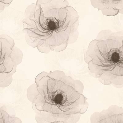 A.S. Creation X-Ray | 342742 | Vliestapete Blumen | 0.53 m x 10.05 m | Braun
