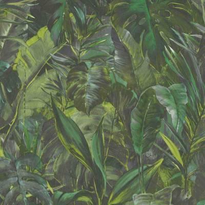 Erismann Instawalls 2 | 1008107 | Vliestapete Blumentapete | 0.53 m x 10.05 m | Grün