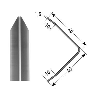 """Eckschutzwinkel """"Gomera"""" 40 x 40 mm Aluminium, dreifach gekantet in verschiedenen Varianten"""