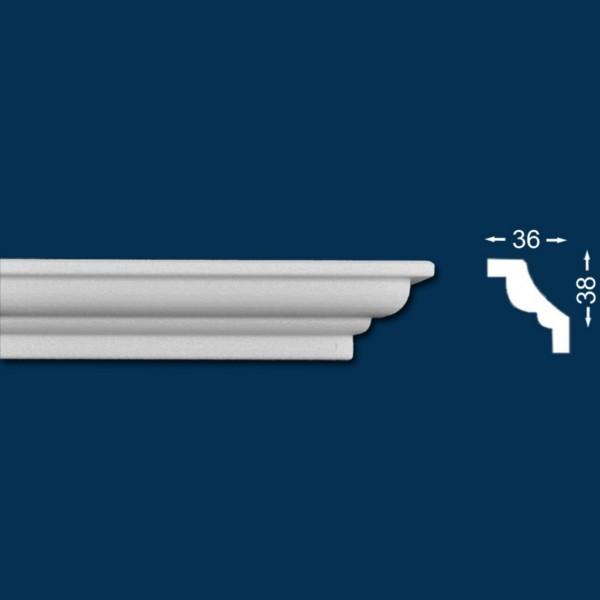 10 Meter - Stuckleiste `Roma 27` - Sparpack