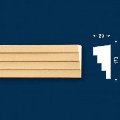 """Fassadenstuck / Fassadenelement """"FP33-b Endstück rechts"""" - beschichtet"""