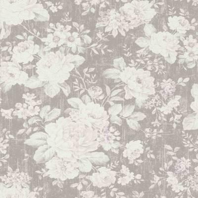 Rasch Selection | 516005 | Vliestapete Blumentapete | 0.53 m x 10.05 m | Braun