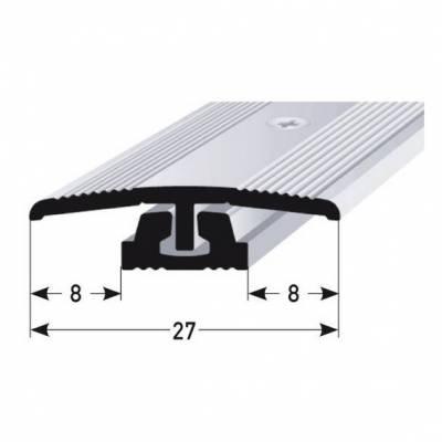 "Übergangsprofil / Übergangsschiene ""Wallingford"", Höhe 4 - 7 mm, 27 mm breit, 2-teilig, Alu"