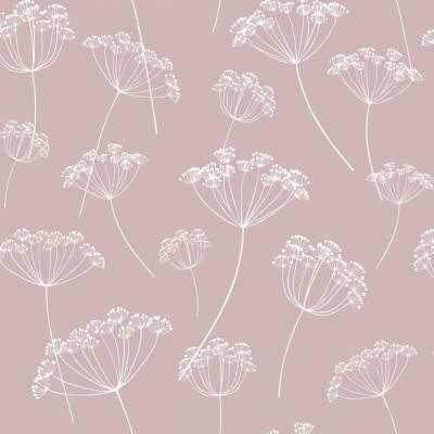 Rasch Textil Scandi Cool | 139103 | Vliestapete Blumenoptik | 0.53 m x 10.05 m | Rosa