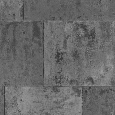 Rasch Factory III   939729   Vliestapete Betonoptik   0.53 m x 10.05 m   Grau