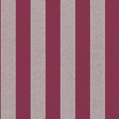 Rasch Textil Comtesse | 225449 | Vliestapete Streifen | 0.53 m x 10.05 m | Rot