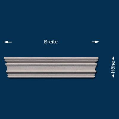 "Giebel / Fassadenelement / Tympanon ""Wiesemann Calitri GB"" - beschichtet"