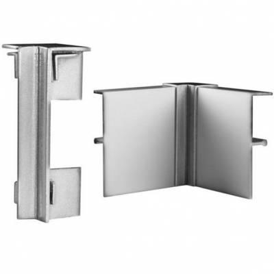 Klick Innenecke für Fußleisten / Sockelleisten 6 x 15 (Aluminium silber eloxiert)