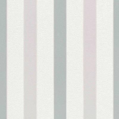 Rasch Cato | 801439 | Vliestapete Streifen | 0.53 m x 10.05 m | Grün