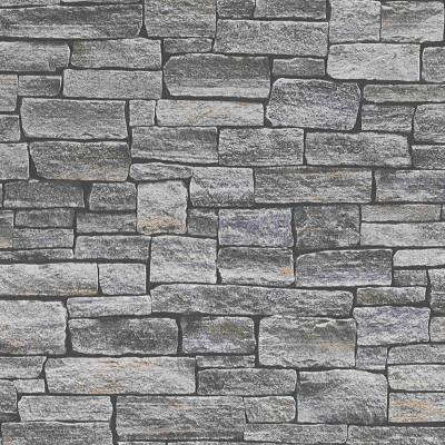 A.S. Creation Best of Wood'n Stone | 958711 | Vliestapete Steinoptik | 0.53 m x 10.05 m | Braun