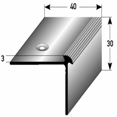 "Treppenkante ""Giffone"" / Winkelprofil 40 mm x 30 mm x 3 mm Aluminium eloxiert"
