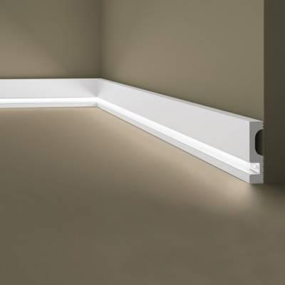 Lichtleiste / Deckenleiste | indirekte Beleuchtung| Wallstyl IL11 NMC | 80 x 20 | hochfest