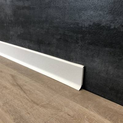 Fußleiste | PVC | Sockelleiste | Rimini | 60 x 12.8 mm | durchgefärbte Weichlippe | weiß