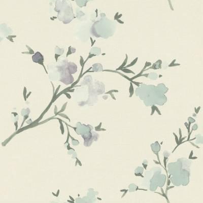 Rasch Textil Blush | 148715 | Vliestapete Blumenoptik | 0.53 m x 10.05 m | Lila