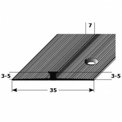 "Doppel-Anstoßprofil ""Rathmore"" Anstoßleiste doppelseit. 3-5 mm Einfasshöhe, Alu eloxiert Typ 28/30"