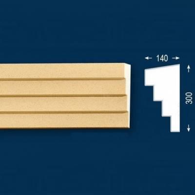 """Fassadenstuck / Fassadenelement """"FP32-b Endstück links"""" - beschichtet"""