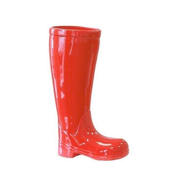 Roter Schirmständer-Stiefel
