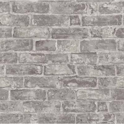 Erismann Imitations | 631811 | Vinyltapete Steintapete | 0.53 m x 10.05 m | Grau, Braun