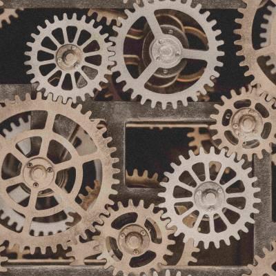 Rasch Factory III | 940114 | Vliestapete 3D Optik | 0.53 m x 10.05 m | Braun