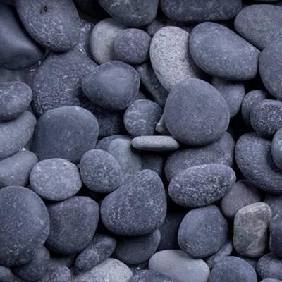 Beach Pebbles | Quarz | Zierkies Getrommelt | Schwarz | Garten anlegen | Kies