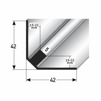 """Treppeninnenecke """"Ardsley"""", Einfassung: 15 - 22 mm (Edelstahl matt, gebohrt)"""