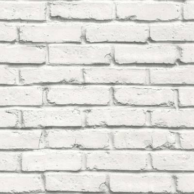 A.S. Creation BEAUTIFUL WALLS | 358562 | Vliestapete Steintapete | 0.53 m x 10.05 m | Weiß-Hellgrau