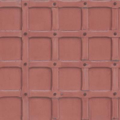 Erismann Imitations | 631706 | Vliestapete 3D Tapete | 0.53 m x 10.05 m | Rot